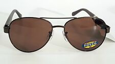 FOSSIL 53565 Brown Frame Aviator Mens Sunglasses