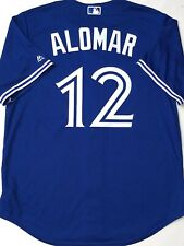 NWT-MEN-LG ROBERTO ALOMAR TORONTO BLUE JAYS MAJESTIC AUTHENTIC LICENSED JERSEY