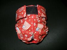 Female Dog Puppy Pet Diaper Washable Pants Sanitary Underwear USA Flag RED Small