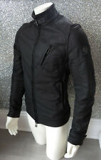 BELSTAFF H RACER Black Polyurethane Jacket UK Large IT 50