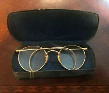Glasses By Clelands Vintage Gold Wire Rim Round Glasses