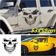 Black Skull Hood Decal vinyl large Graphic sticker Car SUV Boat tailgate window