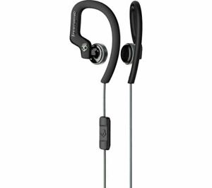 Skullcandy Chops Flex Sport Sweat-Resistant Earbud with Microphone - Black/Grey