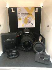 Nikon D5600 24.2MP Digital SLR Camera - Black w/Nikon AF-P 18-55 VR Lens - Mint!