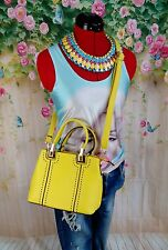 womens size med bright sun yellow wedding/ascot/summer party hand bag