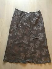 Pretty Roman Originals Size 20 Brown Shimmer Pattern Lined Stretch A-Line Skirt