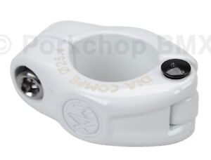 """Dia-Compe MX hinged old school BMX bicycle seat post clamp - 25.4mm (1"""") WHITE"""