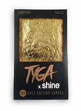 Shine Tyga Shine King Size 24K Rolling Papers 6 Sheets Authorized US Distributor