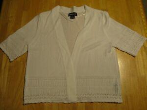 White Sweater Liz Clairborne XL 100% Acrylic