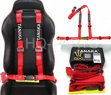 Tanaka Buggy Series Universal Red 3 Point Buckle Racing Seat Belt Harness