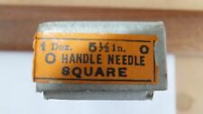 NOS Nicholson file round handle needle square 5 1/2 inch 0 cut