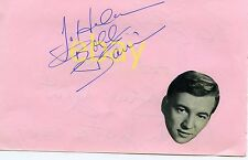 Original BOBBY DARIN (d. 1973) Signed Album Page - Terrific autograph RARE!!!