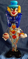 VINTAGE MURANO GLASS CLOWNS LARGE ITALIAN ITALY ORNAMENTS FIGURINES FIGURES