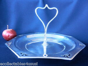 SILVER PLATED TRAY OCTAGON HANDLED SILVER DISH RADIANT DAISY EPNS A1 21CM 1950s