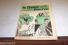 REVUE SATIRIQUE LA BONNE GUERRE 21 dec 1935 CARB