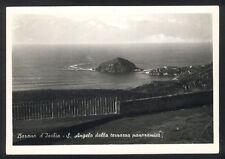 Cartolina- BARANO D'ISCHIA (Napoli) S. Angelo dalla terrazza panoramica -VG 1954