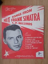 VINTAGE SHEET MUSIC BOOK - HIT SONGS FROM FRANK SINATRA L.P. RECORDS
