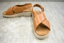 Clarks Unstructured Un Karley Sun Leather Slingback Sandals, Women's Size 8W Tan
