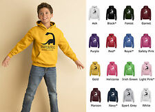 Kids Personalised Dinosaur Hoodie (GD57B) - Any Name / Date -Jurassic Boys Girls