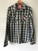 superdry Mens Check Shirt Size M <V492