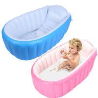 Baby Inflatable Bathtub PVC Thick Portable Bathing Bath Tub Safe for Kid Toddler