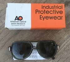 American Optical AO Safety Glasses. Industrial Protective Eyewear Vintage New