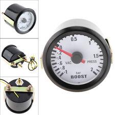 """6031BL 2"""" 52mm 12V Blue LED -1~2 Bar Turbo Boost Gauge Meter with Sensor"""