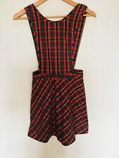 Mini Vestido Mujer Retro Peto Pichi Tartán Talla 8 pequeñas