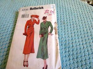 vintage reproduction pattern woman's suit - 1936, 12-16, uncut