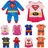 Hero Superman Batman Funky Cute Fancy Dress Baby Grow Outfit Romper Suit 3-24M
