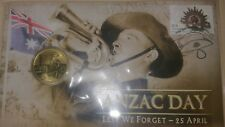 2012 ANZAC Day lest we forget PNC $1 coin and stamp