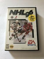 NHL 96 Sega Genesis w/ Box No Manual (EA Sports, 1995)