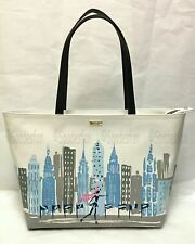 Kate Spade PXRU8502 Winter Wonderland NYC Rockefeller Rock Center Tote Bag NWT