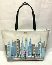 Kate Spade Pxru8502 Winter Wonderland NYC Rockefeller Rock Center Tote Bag