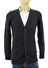 $1.195 BURBERRY Brit Gray Purple CARDIGAN Cashmere - Wool Mens Sweater Size M