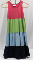 HANNA ANDERSSON size 140 or 10 BEAUTIFUL Pink Green Blue SLEEVELESS Dress 140