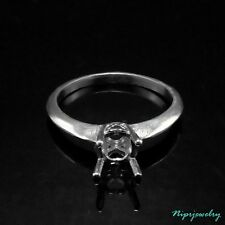 Ring Setting Sterling Silver 6 mm. Round. size 7