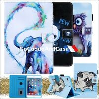 Etui Coque Housse Animals Series Cuir PU Leather Case Cover iPad Collection Film