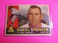 1960 Topps DARYL SPENCER #368 ST. LOUIS CARDINALS NmMt High Grade Sharp!