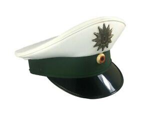 ORIGINAL Schirmmütze Polizei Weiß + Kokarde Landespolizei Uniform Mütze Karneval