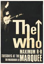 La OMS (1964 marquesina Cartel concierto, Londres) ORIGINAL Impresión de reproducción de calidad