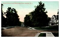 Early 1900s Hobart Avenue and Whittredge Place, Summit, NJ Postcard