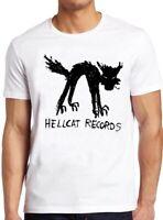 Vinyl Records T Shirt Seattle Record Store Music Cat Hellcat Cool Tee 38