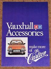 1979 VAUXHALL CARLTON ACCESSORIES Sales Brochure - Excellent Condition