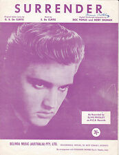 SURRENDER Elvis Presley / Sheet Music