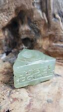 Chinese HONGSHAN CultureOld Green Jade{1.5inch X 1.25inch X 1.75inch}