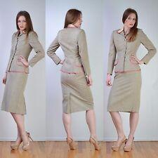 VTG 40s 50s LILLI ANN Tweed Wool Rhinestone JACKET + SKIRT Dress Coat SUIT XS
