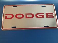 Dodge Metal Front Booster License Plate Tag
