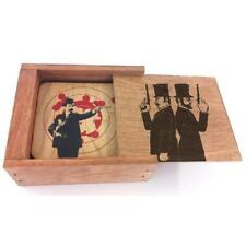 Dueling Pistols Coaster Box Set - 4 Wooden Coasters with Graphics for Home Bar