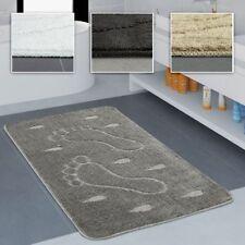 Badezimmer Teppich Rutschfest Fußabdruck Einfarbig In Versch. Größen u. Farben
